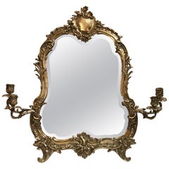 "Antique English ""Crested"" Sheffield Silver Dressing Mirror, circa 1870"