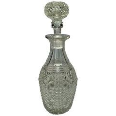 Antique English Crystal Decanter, circa 1880