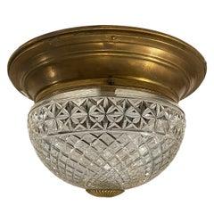 Antique English Crystal Light Fixture