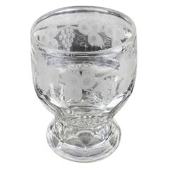 Antique English Cut and Engraved Rummer