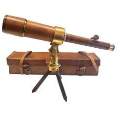 """Antique English """"Davon"""" Patent Combination Micro-Telescope and case, circa 1920"""