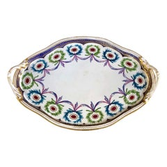 "Antique English Derby Porcelain ""Sevres"" Style Cabaret or Dejeuner Tray"