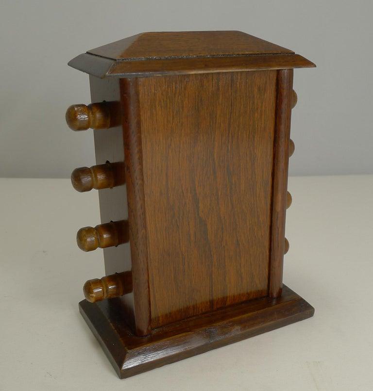 Early 20th Century Antique English Desk-Top Oak Perpetual Calendar, circa 1900 For Sale