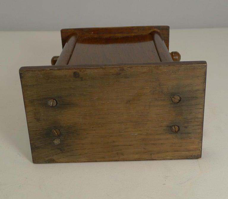 Antique English Desk-Top Oak Perpetual Calendar, circa 1900 For Sale 1