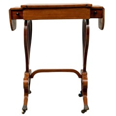 Antique English Diminutive Drop Leaf Games Table