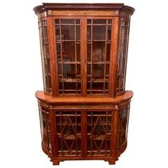 Antique English Display Cabinet Edwardian Period, circa 1880-1890
