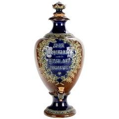 Antique English Doulton Burslem Glen Urquart Highland Whiskey Dispenser