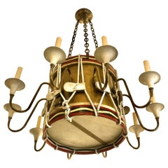 Antique English Drum Chandelier