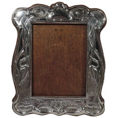 Antique English Edwardian Art Nouveau Sterling Silver Picture Frame