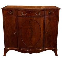 Antique English Edwardian Inlaid Mahogany Side Cabinet