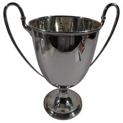 Antique English Edwardian Sterling Silver Classical Trophy Cup
