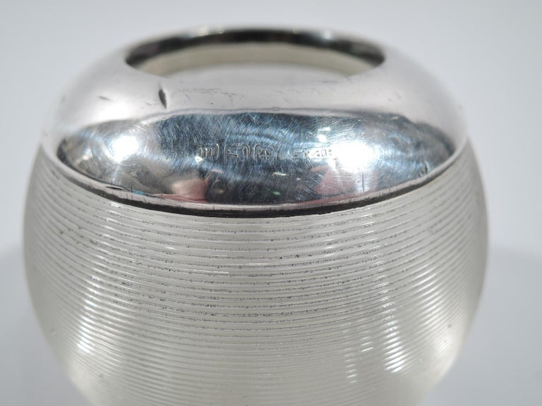 Early 20th Century Antique English Edwardian Sterling Silver & Crystal Match Strike