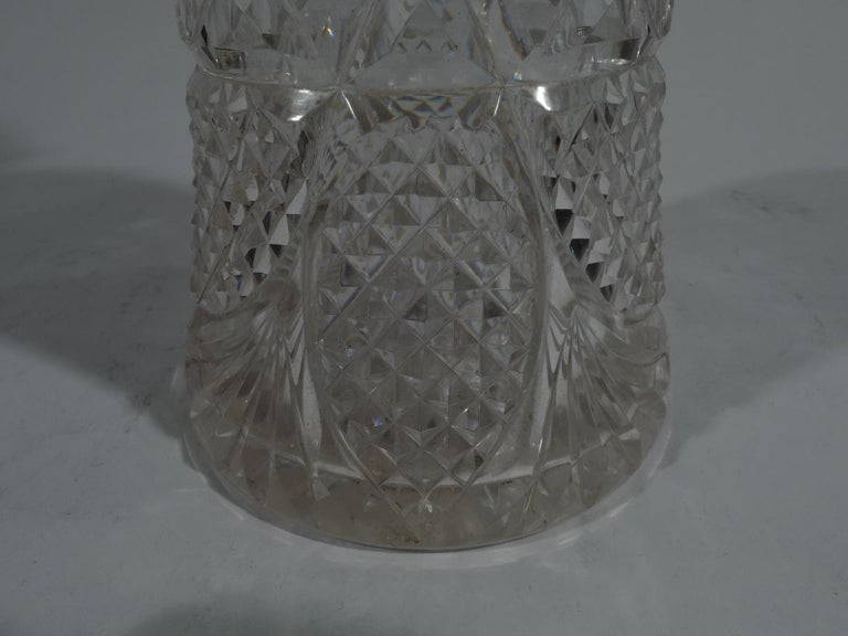 Antique English Edwardian Sterling Silver and Cut-Glass Decanter 2