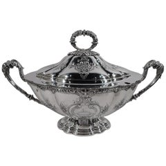 Antique English Edwardian Sterling Silver Soup Tureen