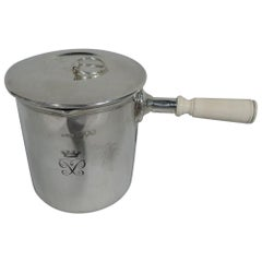 Antique English Empire-Era Sterling Silver Portable Water Pot