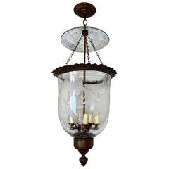 Antique English Etched Lantern