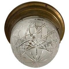Antique English Flushmounted Light Fixture