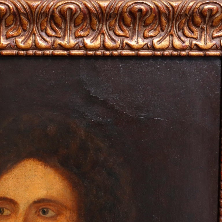 Antique English Framed Oil on Canvas Portrait Painting of Statesman 19th Century For Sale 3