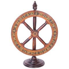 Antique English Gaming Wheel