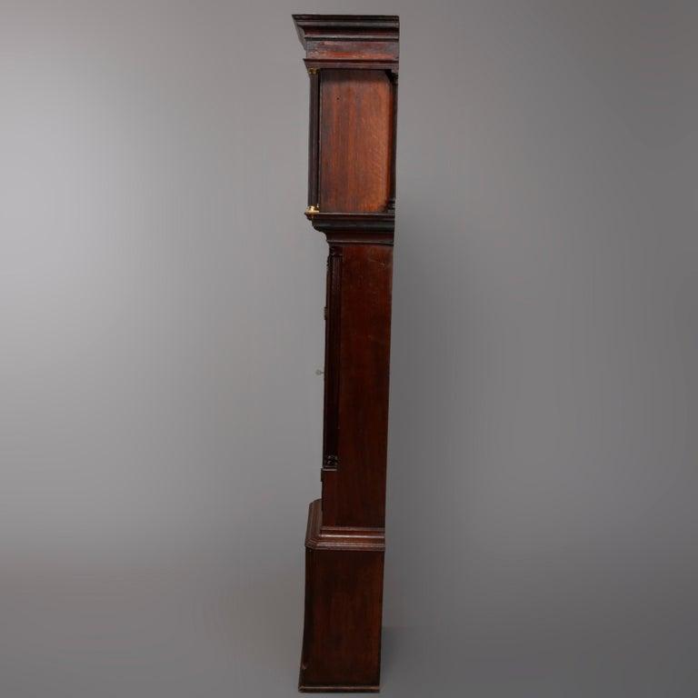 Antique English George III Oak Tall Case Clock Sam Ashton, Bredbury 18th Century For Sale 9