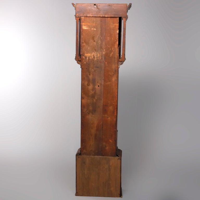 Antique English George III Oak Tall Case Clock Sam Ashton, Bredbury 18th Century For Sale 10