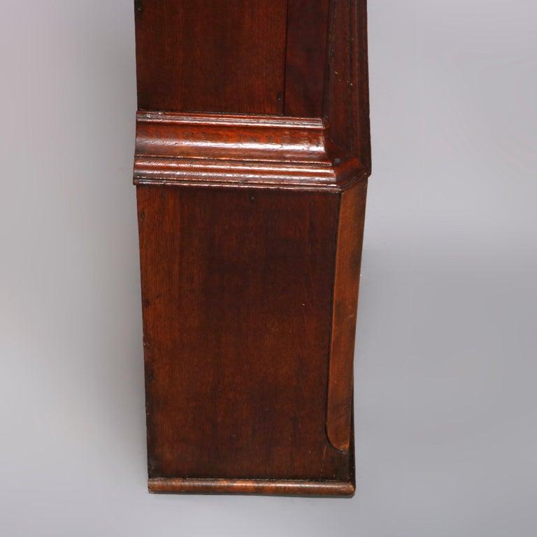 Antique English George III Oak Tall Case Clock Sam Ashton, Bredbury 18th Century For Sale 12