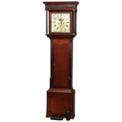 Antique English George III Oak Tall Case Clock Sam Ashton, Bredbury 18th Century