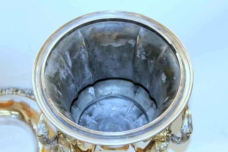 Antique English George III Sheffield Plate Campana Shape Wine Cooler For Sale 9