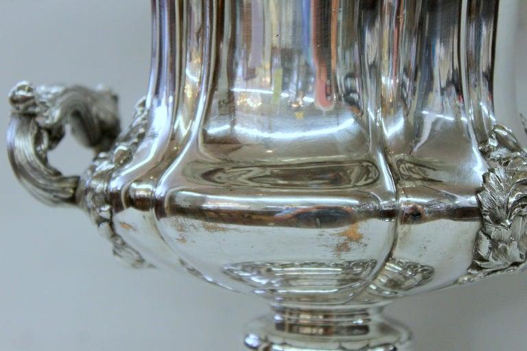 Antique English George III Sheffield Plate Campana Shape Wine Cooler For Sale 12