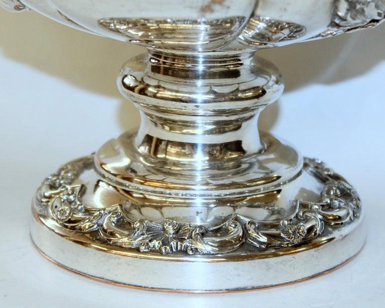 Antique English George III Sheffield Plate Campana Shape Wine Cooler For Sale 13