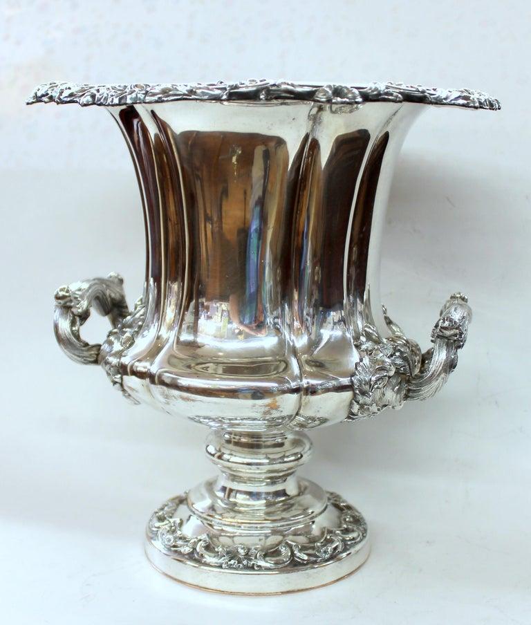 Antique English George III Sheffield Plate Campana Shape Wine Cooler For Sale 14