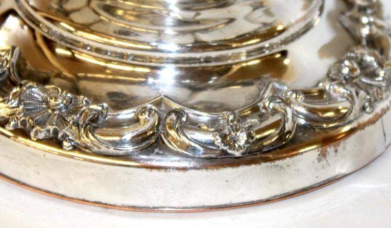 Rococo Antique English George III Sheffield Plate Campana Shape Wine Cooler For Sale