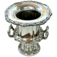 Antique English George III Sheffield Plate Campana Shape Wine Cooler