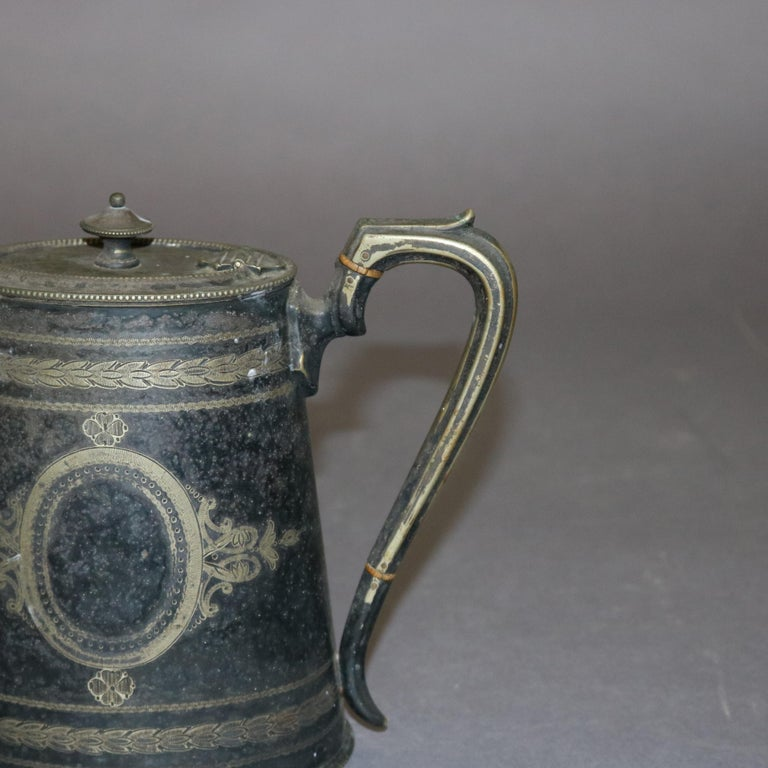 19th Century Antique English George III Silver Plate Teapot, circa 1820 For Sale