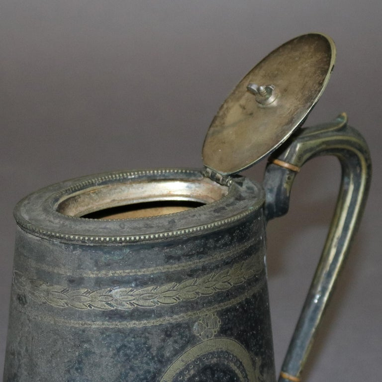 Antique English George III Silver Plate Teapot, circa 1820 For Sale 3