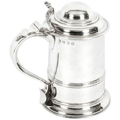 Antique English George III Silver Tankard Thomas Whipham & Charles Wright, 1759