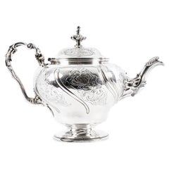 Antique English George IV Sterling Silver Tea Pot by Paul Storr, London, 1829