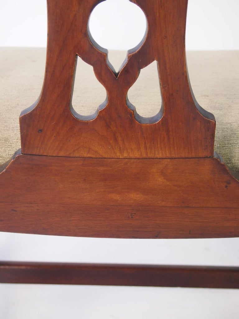 English Georgian Mahogany Chippendale Chair, circa 1780 Dining Desk Chair For Sale 4