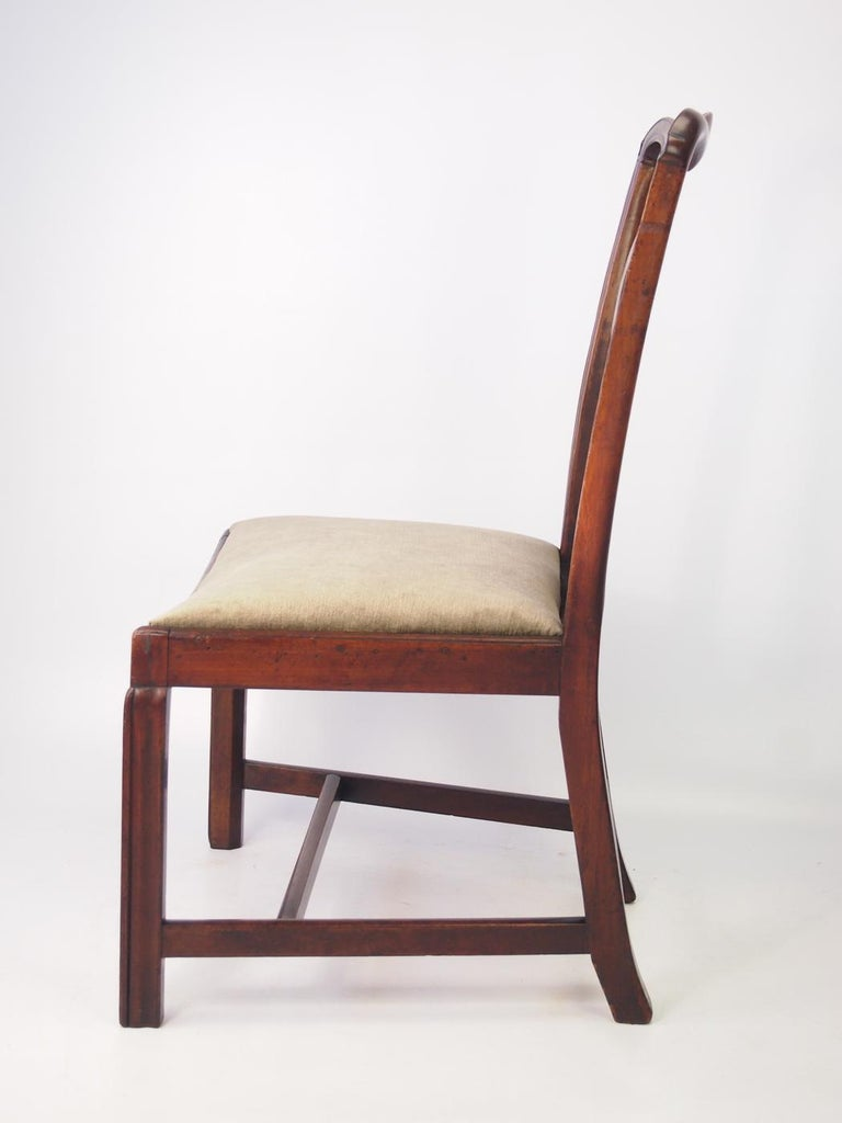 George III English Georgian Mahogany Chippendale Chair, circa 1780 Dining Desk Chair For Sale