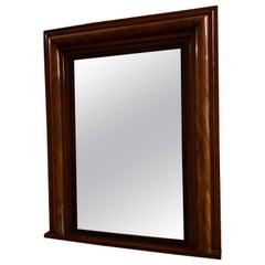 Antique English Georgian Mahogany Cushion Mirror