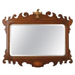 Antique English Georgian Mahogany Mirror