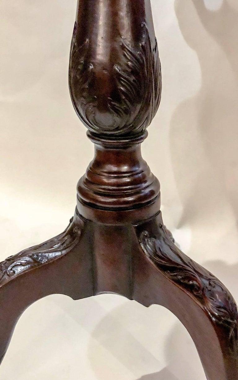 Antique English Georgian Pie-Crust Mahogany Table, circa 1810-1830 For Sale 1