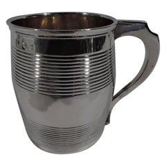Antique English Georgian Sterling Silver Barrel Baby Cup