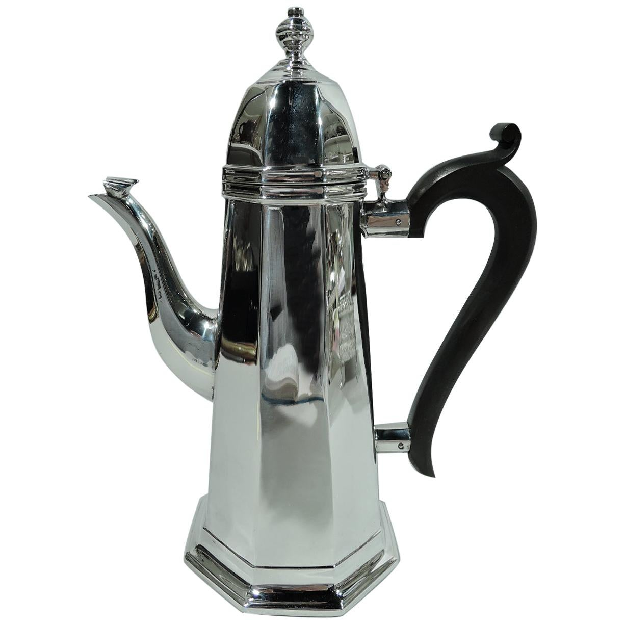 Antique English Georgian Sterling Silver Coffee Pot