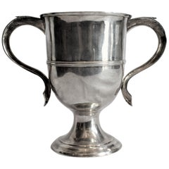Antique English Georgian Sterling Silver Loving Cup