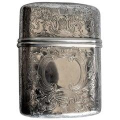 Antique English Georgian Sterling Silver Pocket Cigar Case