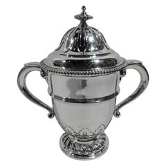 Antique English Georgian-Style Sterling Silver Covered Urn