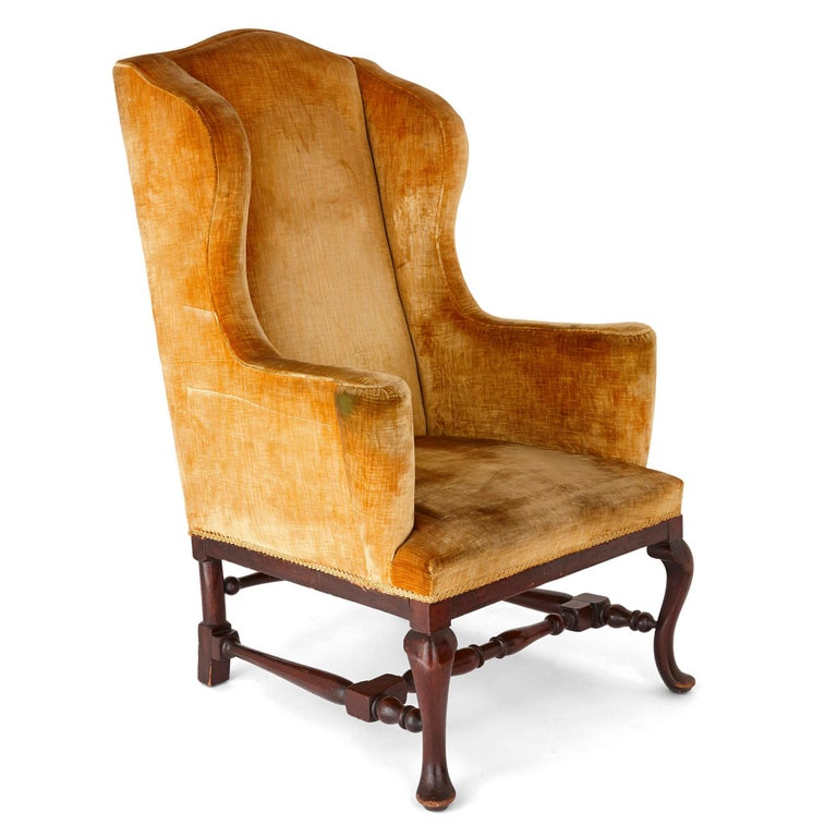 Antique English Georgian Wingback Chair In Good Condition For Sale In London, GB