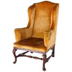Antique English Georgian Wingback Chair