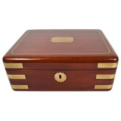 Antique English Gentleman's Fitted Traveling Box